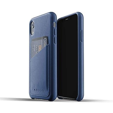Mujjo Funda Cartera de Cuero Compatible con iPhone XR   Piel auténtica Efecto Envejecido Natural,