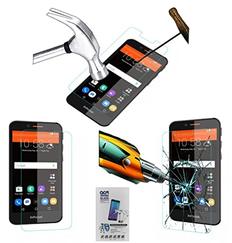 Acm Tempered Glass Screenguard Compatible with Infocus M260 Mobile Screen Guard Scratch Protector
