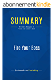 Summary: Fire Your Boss: Review and Analysis of Pollan and Levine's Book (English Edition)
