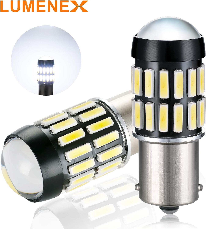 LUMENEX 1156 BA15S LED Bombillas 36SMD Extremadamente Brillante P21W 12V 24V Para RV Bombillas Interiors Coche Marcha Atrás Luces Diurnas Luces Traseras 6500K Xenon Blanco