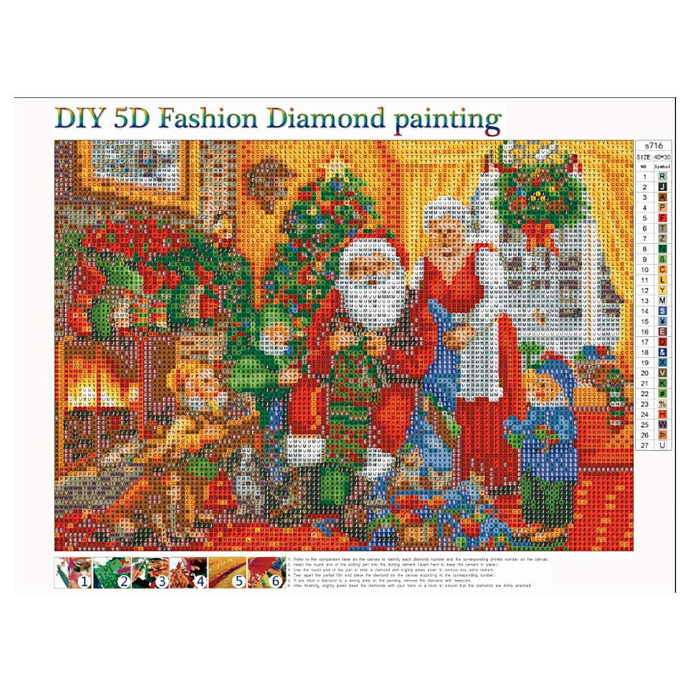 Onefa DIY 5D Full Diamond Painting by Number Kits Crystal Rhinestone Diamond Embroidery Paintings Pictures Arts Craft for Home Wall D/écor