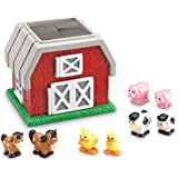 Learning Resources Hide-N-Go Moo, Sensory Awareness, Cognitive Function Farm Animal Toy, 9 Pieces, Ages 2+,Multi-color