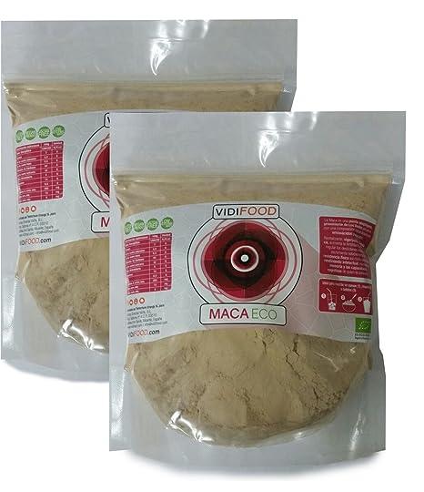 Maca ECO en Polvo - 2kg - Fuente de Aminoácidos, Fibra y Vitaminas - Alta calidad - 100% Natural - Superalimento Saludable para Musculación y ...