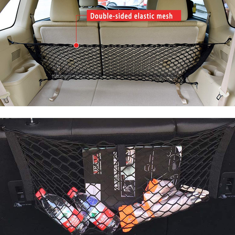 Van Maluokasa Gep/äcknetz Auto f/ür Aufbewahrung Autodach Gep/äcknetz Decke Jeep SUV Auto Nylon Netztasche Autodecke Dach Universal Netztasche f/ür Autos Vier Dach Armlehnen 90 /× 60cm