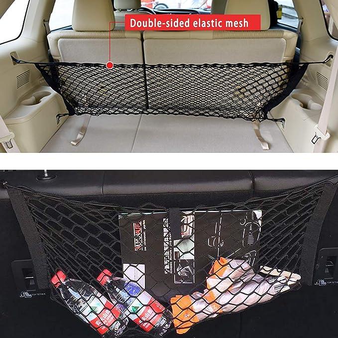 Jeep talogca Auto Gep/äcknetz Mesh Aufbewahrungstasche SUV Netztasche Aufbewahrungstasche F/ür Den Kofferraum Van Mit Rei/ßverschluss Dach