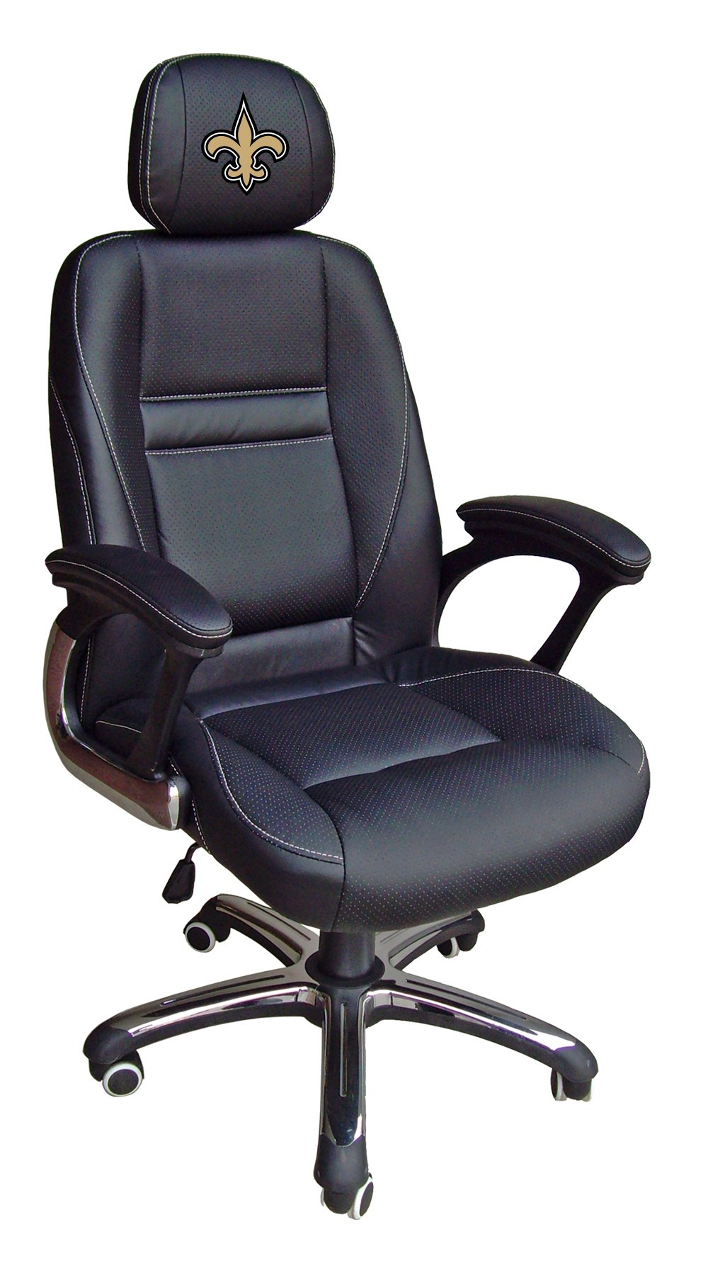 NFL New Orleans Saints Leather Office Chair