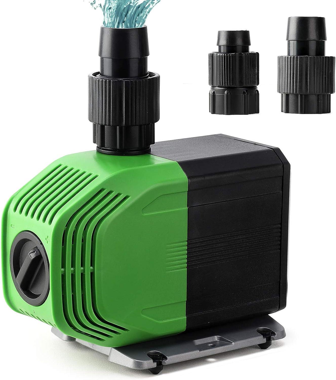 Yorbay Super Eco Pompa per Laghetti Sommergibile con Cavo da 10M, 20W 3500L/H, a risparmio energetico, Anfibio Pompe Acquario Laghetto per Terrari, Stagno di Pesce, Sistemi di Circolazione, ECC.
