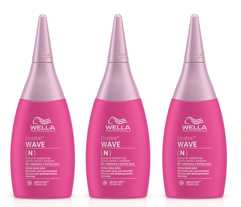 3er N Perm Emulsion Wave Creatine+ Wella Professionals Dauerwellfüssigkeit 75 ml Wella HFC Prestige
