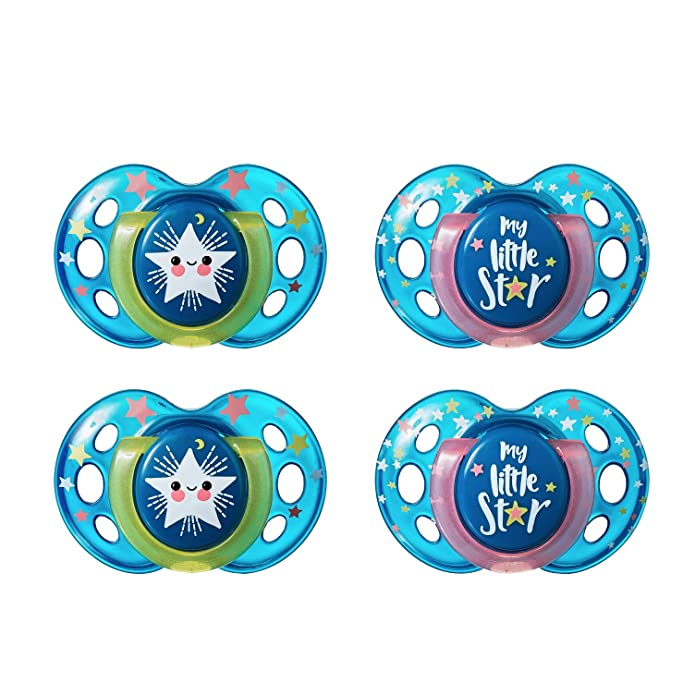Tommee Tippee Night Time  Soothers 18-36m My Little Star 1 2 3 6 12 Packs