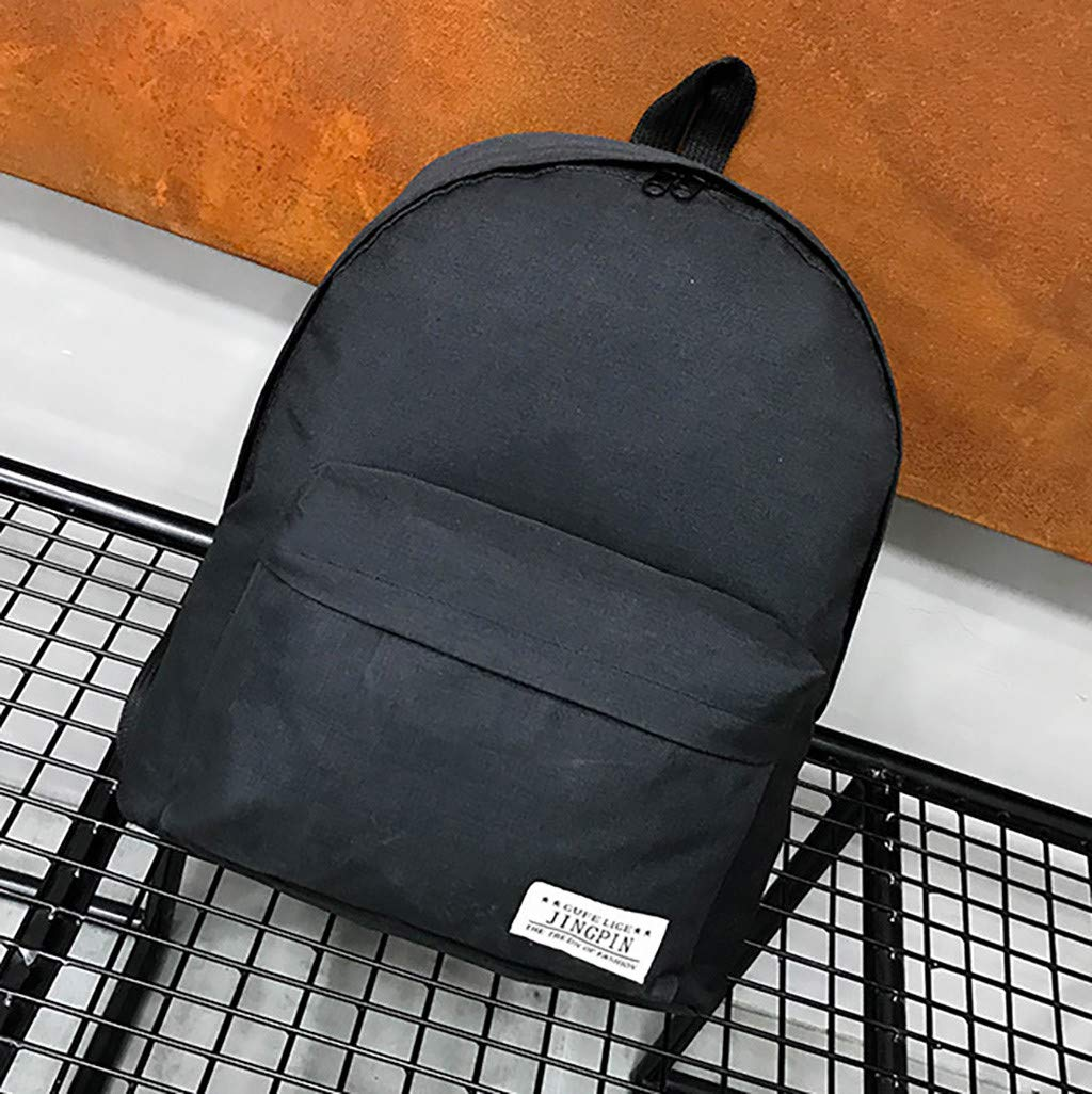 bd5d141947d8 Amazon.com: HYSGM Men Women Student Solid Color Canvas Backpack ...