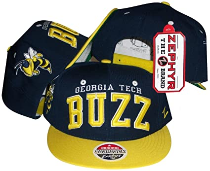 best service 2cef7 7f23e Image Unavailable. Image not available for. Color  ZHATS Georgia Tech  Yellow Jackets Adjustable Snapback Hat Cap