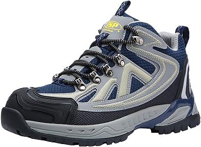 Botas de Seguridad para Hombres, LM-0708 S1P Sra Zapatos de Seguridad con Punta de Acero Transpirable Antideslizante Calzado Reflectante: Amazon.es: Zapatos ...