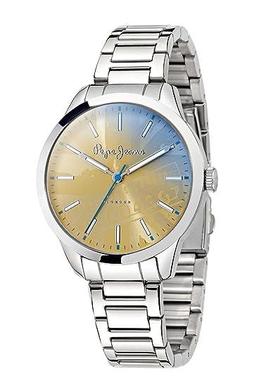 dd24500674ff Pepe Jeans de mujer reloj de pulsera Meg analógico de cuarzo Acero  inoxidable r2353121506  Amazon.es  Relojes