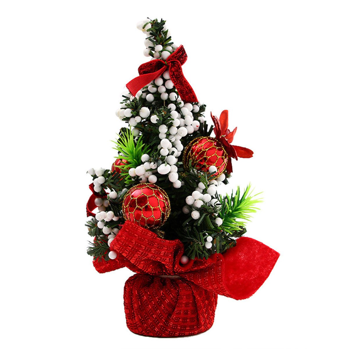 vismile Tabletop Artifical Christmas Tree with Ornament 8.7 Tall