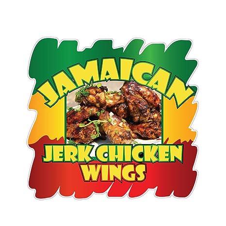Wings Concession Restaurant Food Truck Die-Cut Vinyl Sticker