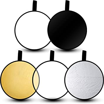 Color : As shown , Size : 30cm Photographic reflector Mini Universal Reflector Portable Photographic Equipment Camera Lens Soft Plate Folding White Reflector For Photography Photo Studio Lighting