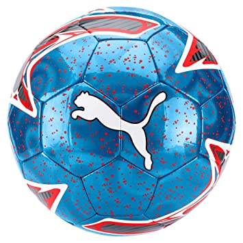 Puma One Laser Ball Balón de Fútbol, Unisex Adulto, Bleu Azur/Red ...