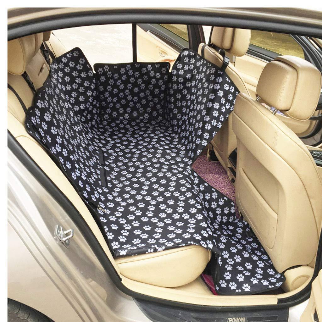 LIHUA Pet Mat Pet Bracket Oxford Cloth Paw Pattern Car Pet Seat Cover Dog Car Rear Seat Bracket Waterproof Pet Pad Hanging Mattress Predector