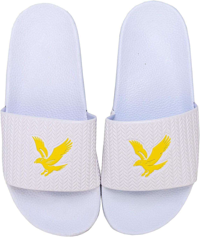 Lyle and Scott Kids Boys Eagle Sliders Pool Shoes Slip On Strap Summer