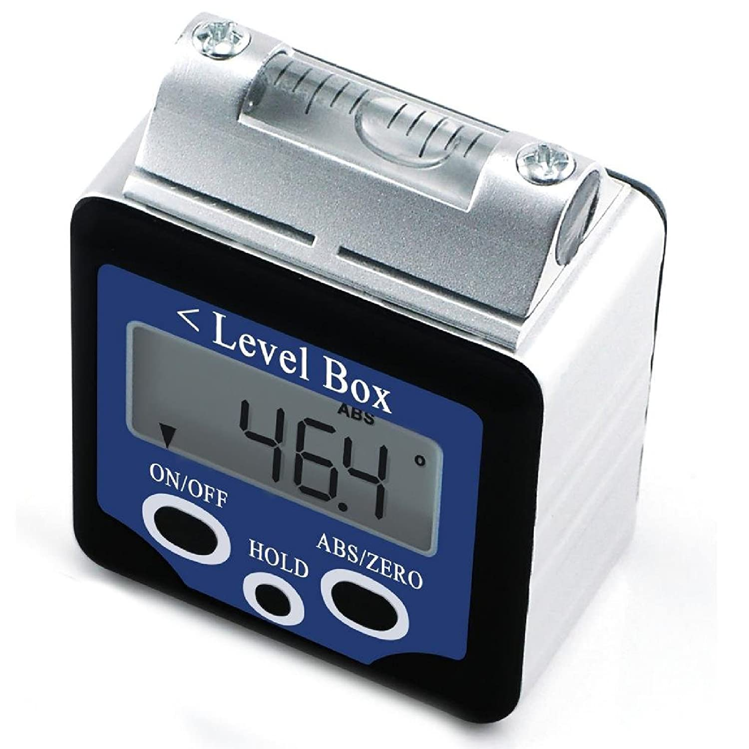 Digital 360° Spirit Level Angle Gauge Inclinometer w/Magnets Box Type +/-180 degree Accuracy 0.1 degree Bevel Box Level Angle Finder Large LCD Display Gain Express Holdings Ltd. AG-02LB
