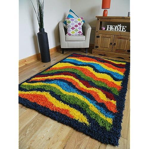 Funky Rainbow Colored Area Rugs: Funky Rugs: Amazon.co.uk