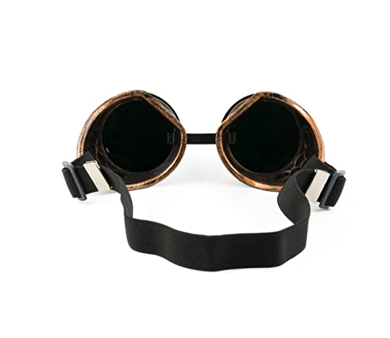 Welding Cyber goggles de soleil des Lunettes de Soudage Steampunk Antique Copper ONE EYED EYE (One Eyed Copper) hupBuVo