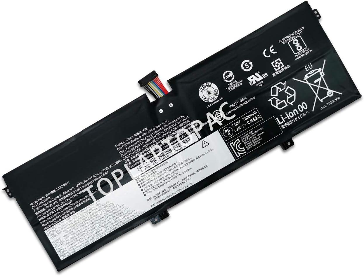 New 7.68V 60Wh 7820mAh L17C4PH1 L17M4PH1 Laptop Battery Compatible with Lenovo Yoga 7 Pro Pro-13IKB C930 C930-13IKB C930-13IKB 81C4 Yoga 7 Pro Yoga 7 Pro-13IKB Yoga C930 Yoga C930-13IK C930-13