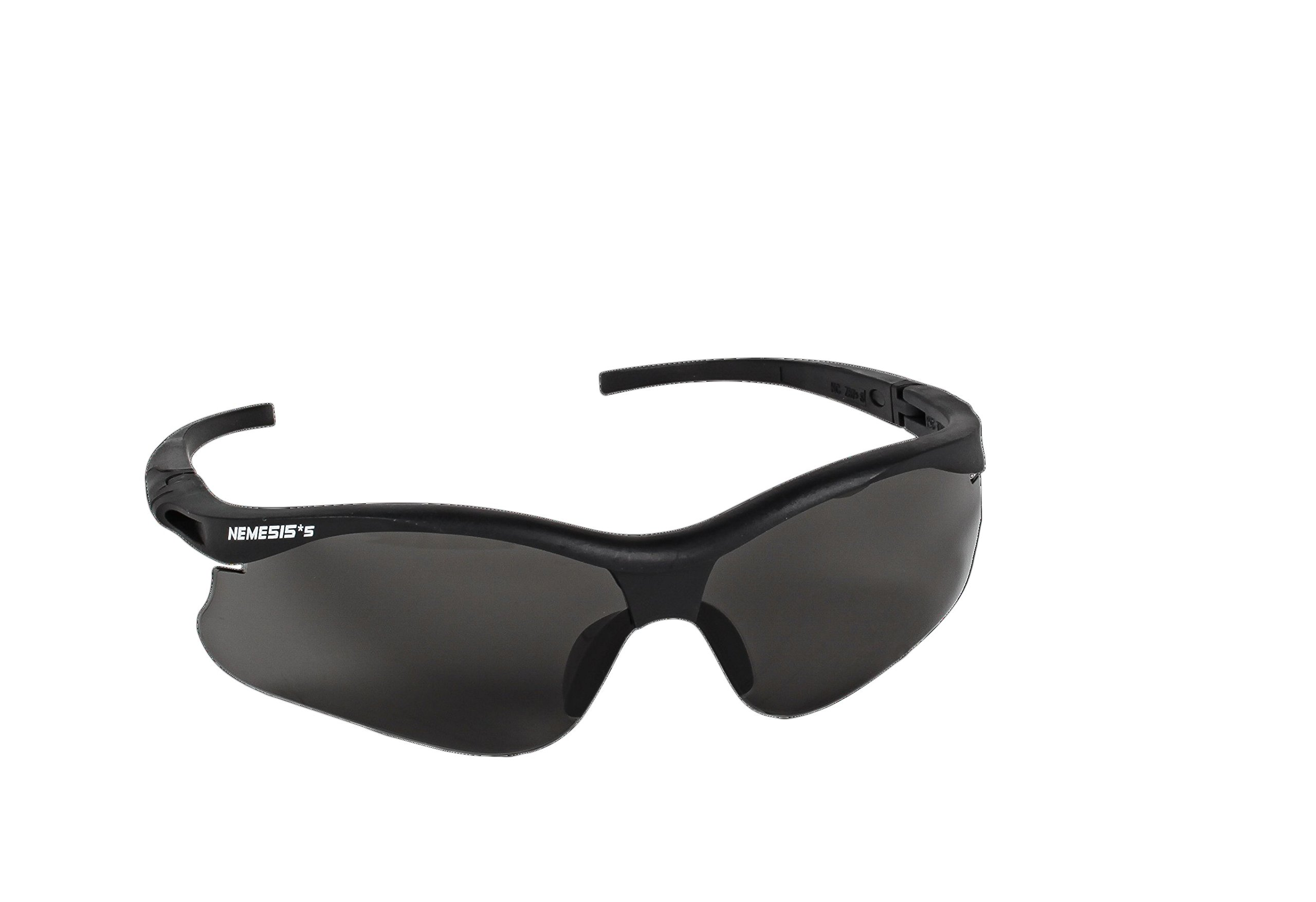 Jackson Safety 38476 V30 Nemesis Small Safety Glasses, Smoke Lenses with Black Frame (Pack of 12) by Kimberly-Clark Professional