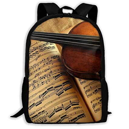 56c418a66fdb Amazon.com: Twinkprint 3D Print Unisex Backpack - Musical ...