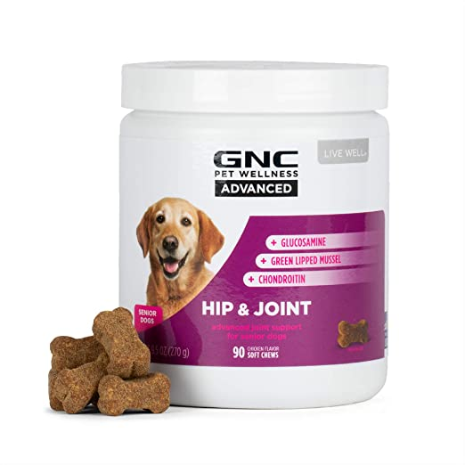 GNC for Pets Advanced Dog Supplement | Dog Vitamins, Pet Supplements for Dog Health and Support | Dog Chews for Calming, Joint health, and More | Made in the USA