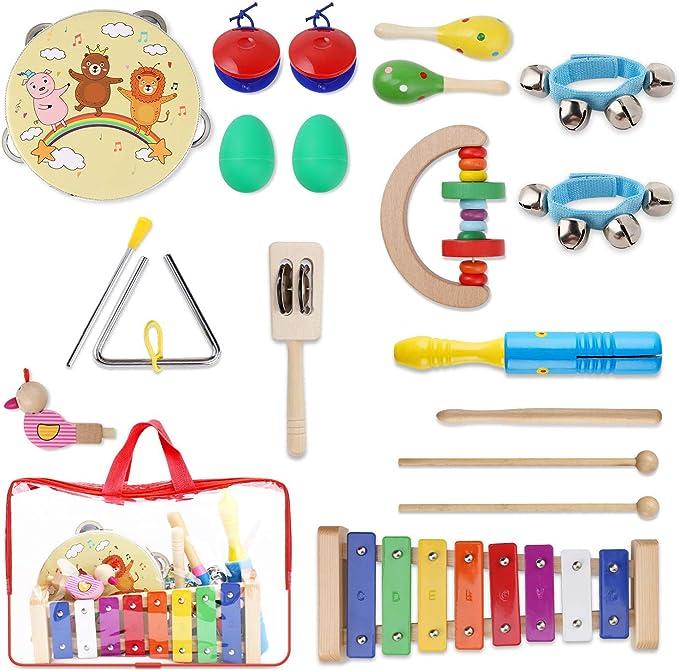 YISSVIC Juguetes de Instrumentos Musicales para Niños 20 Pzas ...