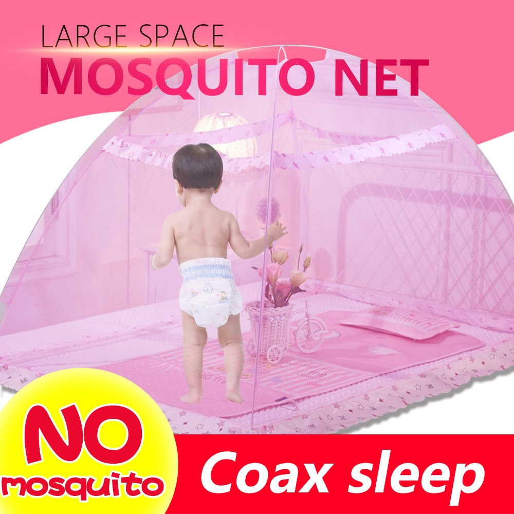 Pop Up Mosquito Net Tent Baby Bed Canopy Indoor Outdoor Safety