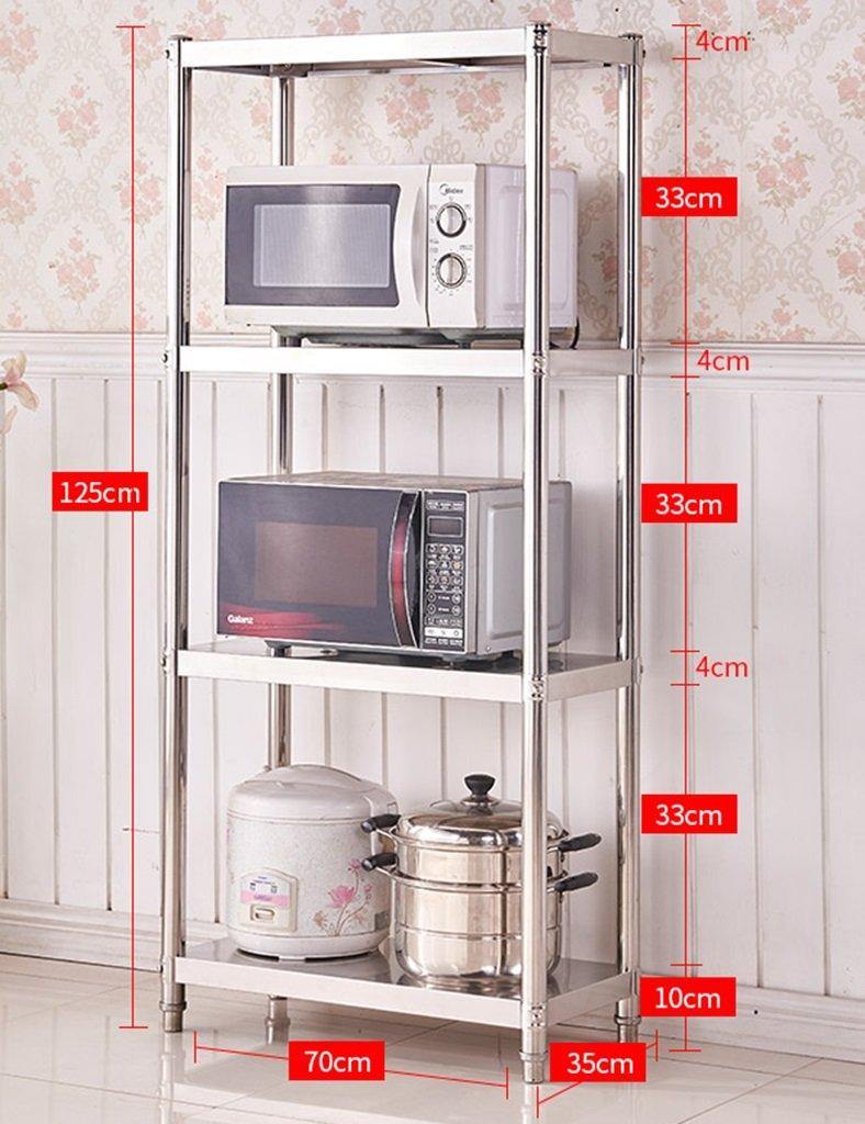 ZCJB Küchenregal Küchenregal 4-Tier Mikrowelle Rack Edelstahl ...