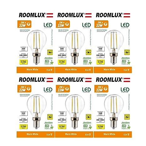 6pcs RoomLux E14 2W P45,bombillas led, bombilla led, led bombilla,bombilla