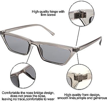 Amazon.com: cramilo rectangular pequeño ojo de gato anteojos ...
