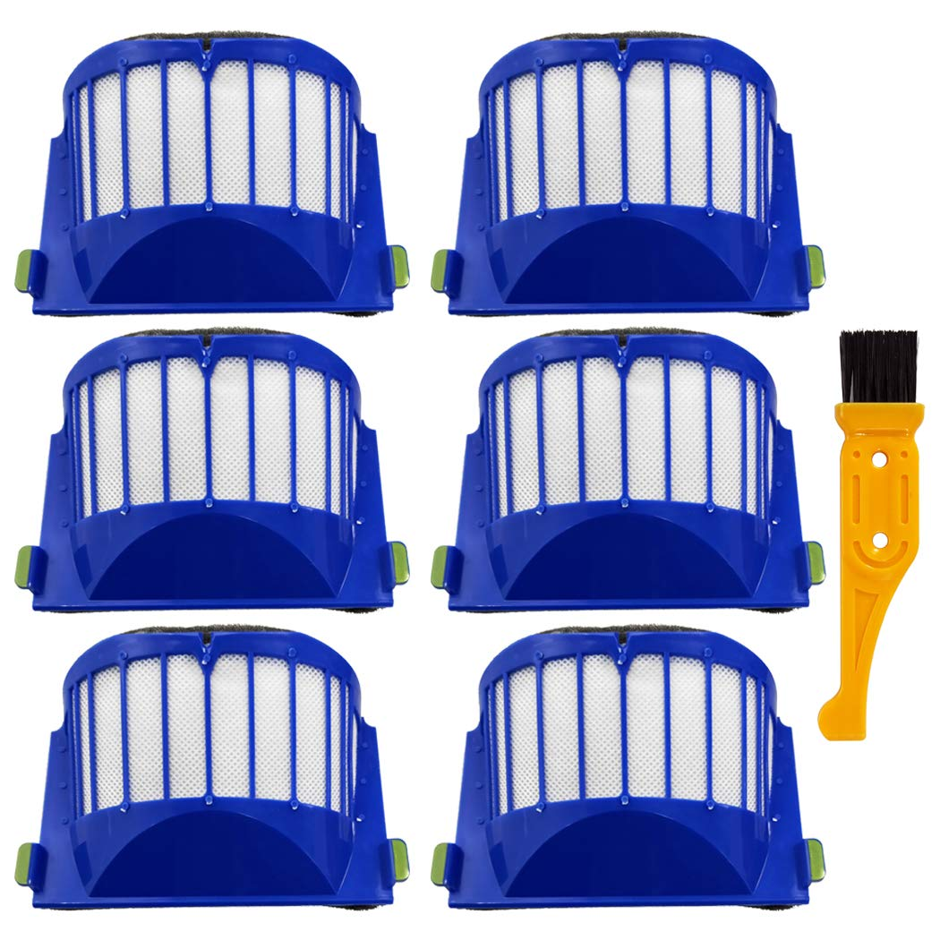 Ugardo Replacement Spare Parts Brushes Filters Bristle Brush Compatible iRobot Roomba 600 Series 610 614 620 630 650 655 660 675 680 690 536 551 552 564 585 589 595 Robot Vacuum Accessories Kit