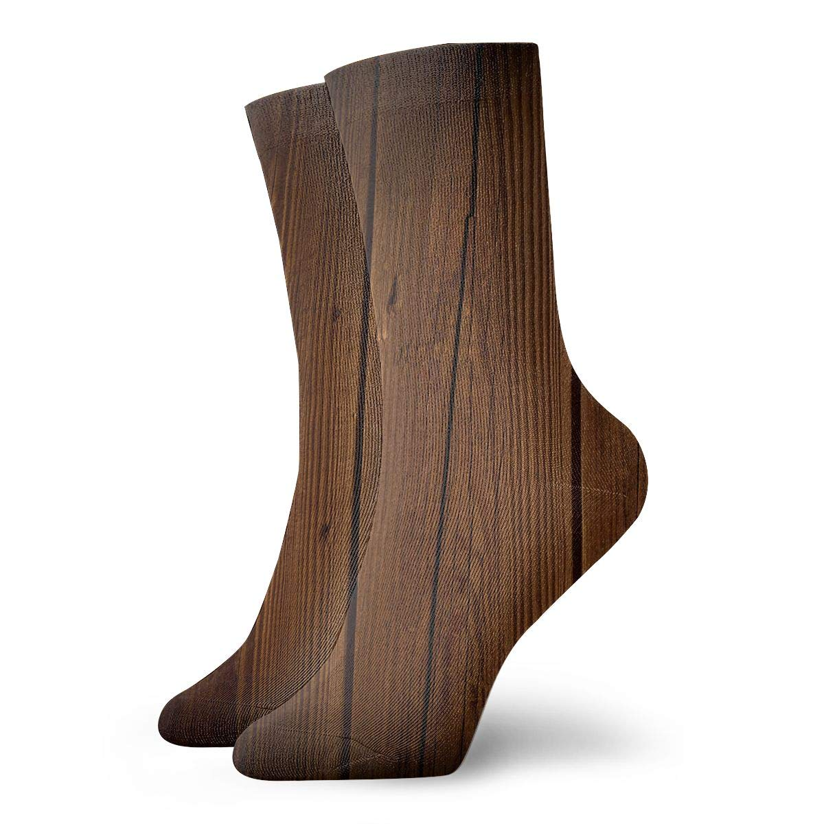 WEEDKEYCAT Brown Wooden Board Adult Short Socks Cotton Sports Socks for Mens Womens Yoga Hiking Cycling Running Soccer Sports