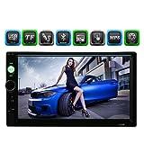 """KKmoon 7"""" Reproductor Multimedia Pantalla Táctil MP5 2 Din HD con Cámara Visión Trasera Bluetooth Radio USB/TF FM Aux Entrada para Coche Auto"""