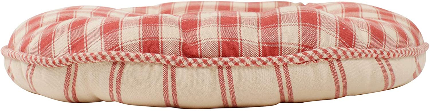 Comptoir de famille Campagne Reversible Round Seat Pad With Ties