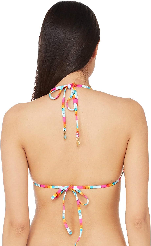 Trina Turk Womens Triangle Halter Hipster Bikini Swimsuit Top