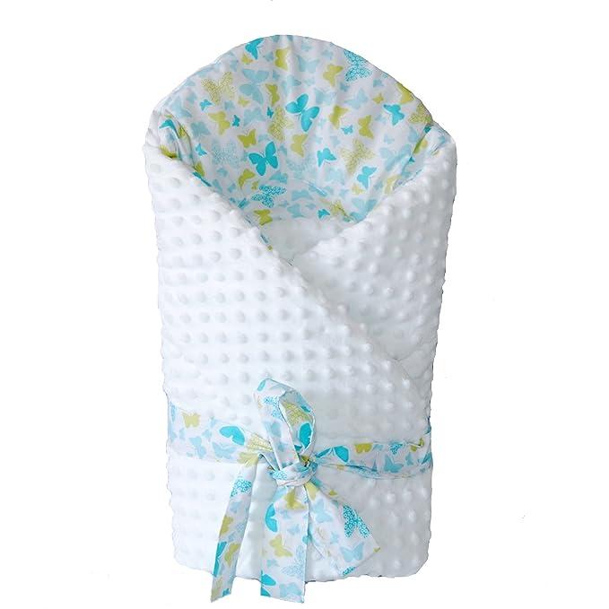Sevira Kids - Saco de dormir - para bebé niña Verde Butterfly Turquoise: Amazon.es: Ropa y accesorios