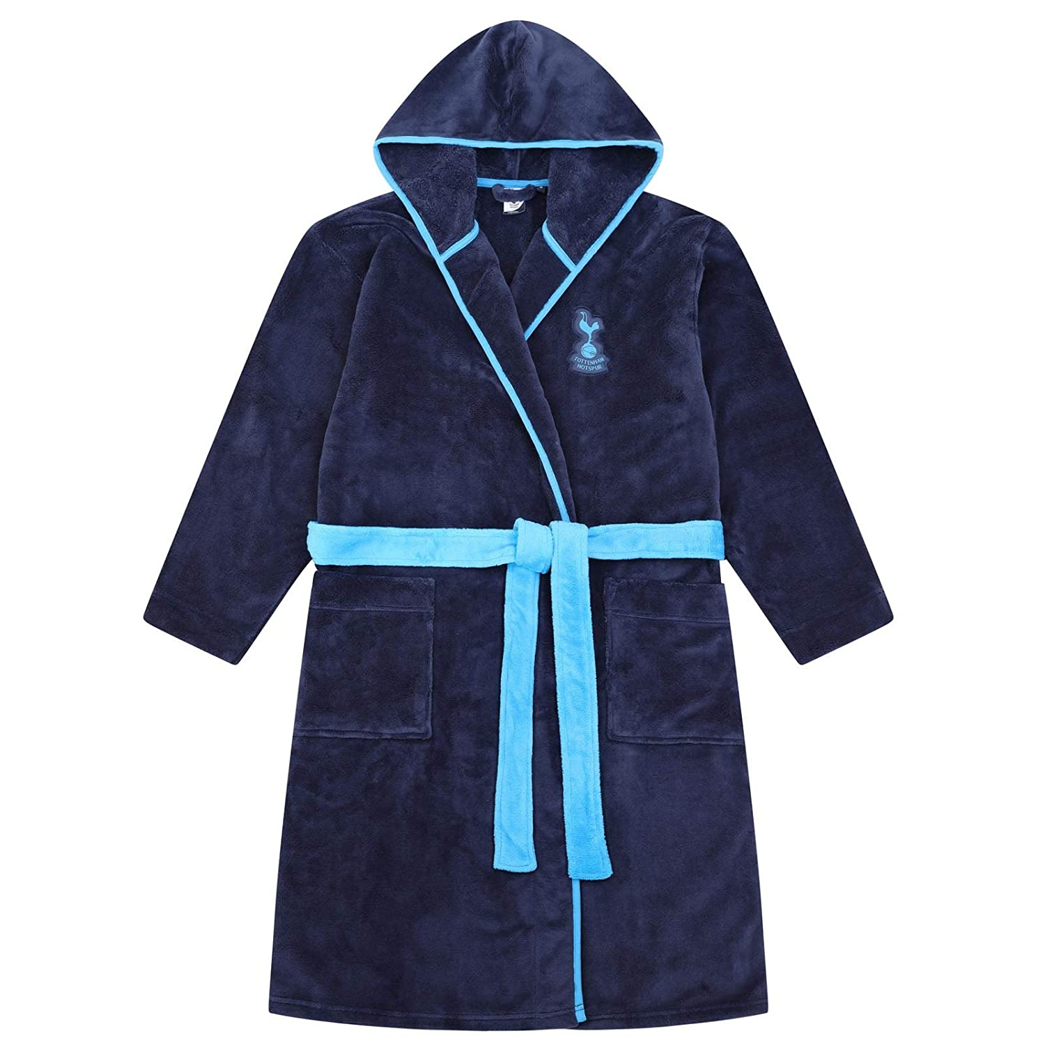 Tottenham Hotspur FC Official Gift Mens Hooded Fleece Dressing Gown Robe