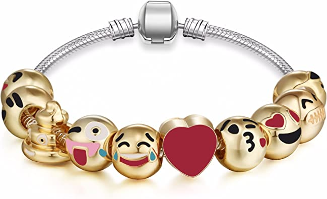 Expression Jewelry Emoticon Slide Bracelets
