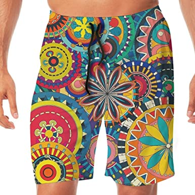 Tydo Abstract Art Painting Mens Beach Shorts Loose Surfing Trunks Surf Board Pants With Pockets For Men
