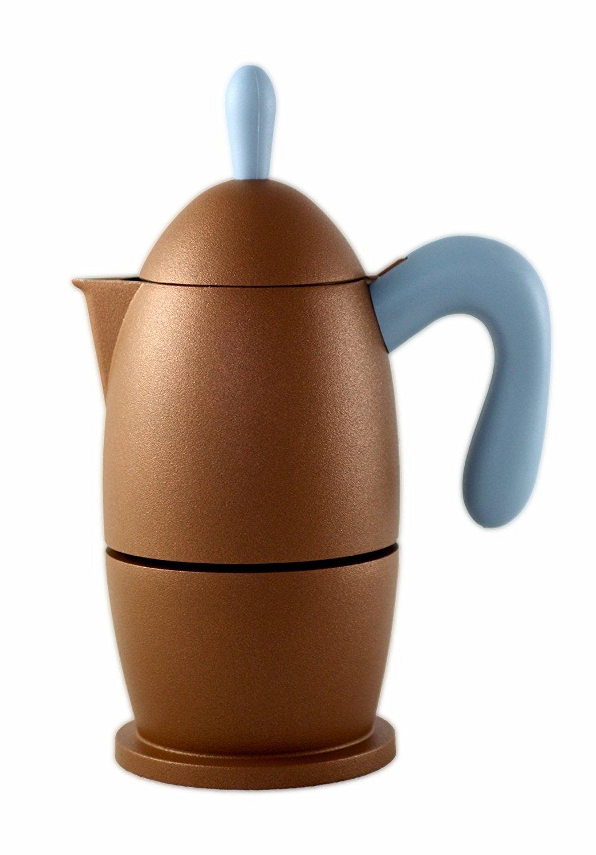 Guzzini Zaza Coffee Maker 6 Cup Bronze, Acrylic, 0.1 x 0.1 x 0.1 cm G2144.04/77
