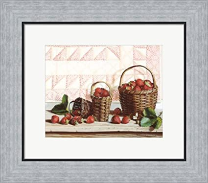Amazon.com: Strawberry Time by Pauline Eble Campanelli Framed Art ...