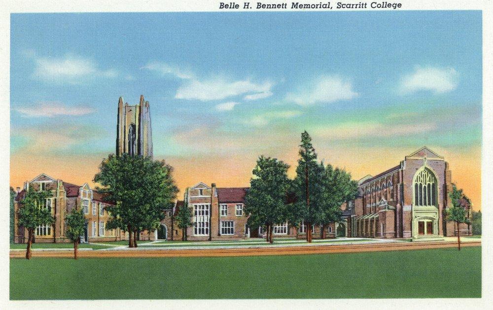 Nashville, Tennessee - Scarritt College; Exterior View of the Belle H. Bennett Memorial (12x18 Art Print, Wall Decor Travel Poster)