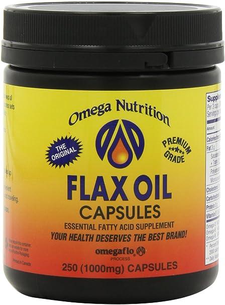 Amazon.com: Omega Nutrición Lino Cápsulas de Aceite de ...