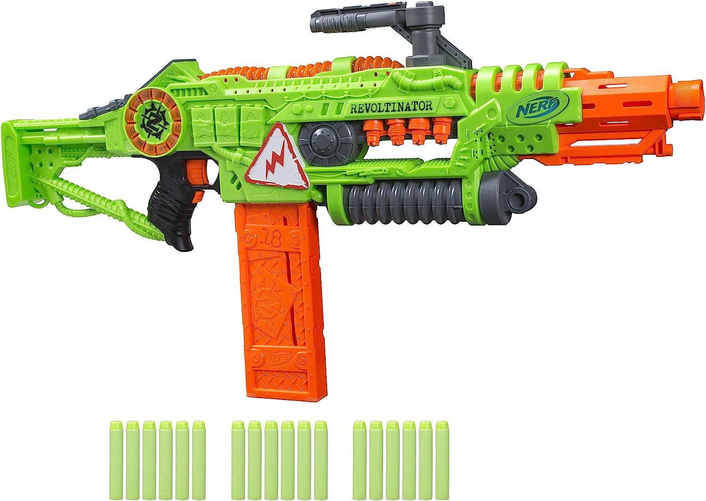 NERF Toy Gun Micro Shots Foam Darts Action Fun Play Double Zombie Strike Blaster