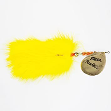 Giant Marabou Couleur Jaune Palette Or Silure Brochet Amazonfr